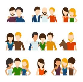 vrienden-en-vriendschappelijke-relaties-vlakke-pictogrammen-57478662